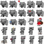استیکر فیل برای تلگرام