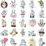 دانلود استیکر خرگوشی تلگرام