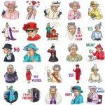استیکر تلگرام ملکه الیزابت
