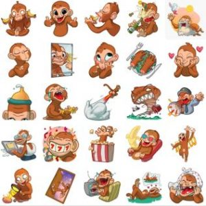 استیکر تلگرام میمون